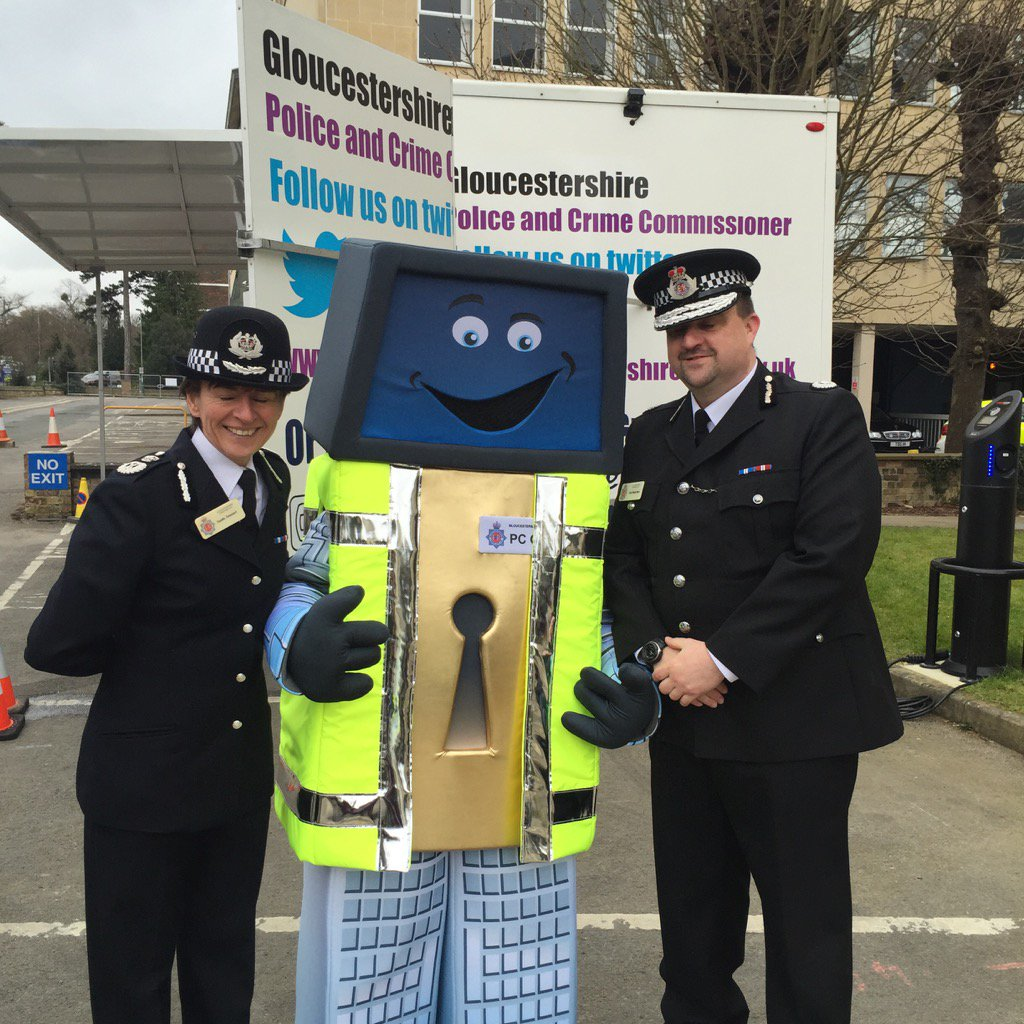 A reminder of the importance of cyber security this morning from OLLIE @Glos_Police Holland House opening. https://t.co/3O9z3D5zTn