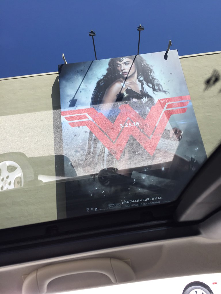 Sunroof shot #wonderwoman #batmanvsuperman #film https://t.co/etpaqKTeNM