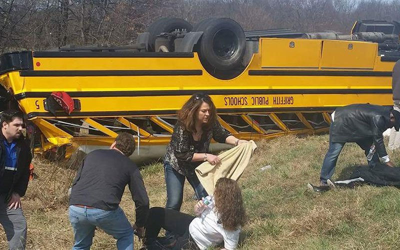 BREAKING: Griffith High bus rolls over on way to semistate; game postponed: https://t.co/HSPEKD7lzJ https://t.co/eUXGMSGMdz