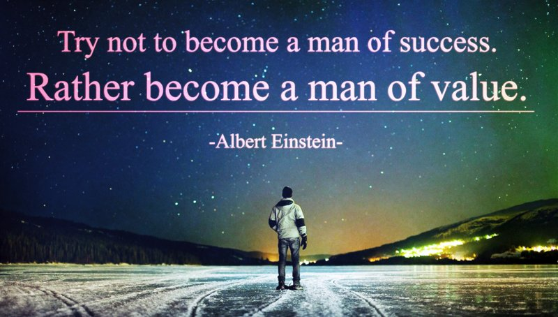 """Try not to become a man of success.Rather become a man of value."" - Albert #Einstein #transformation #dailyquote https://t.co/jPcjYtDl7V"
