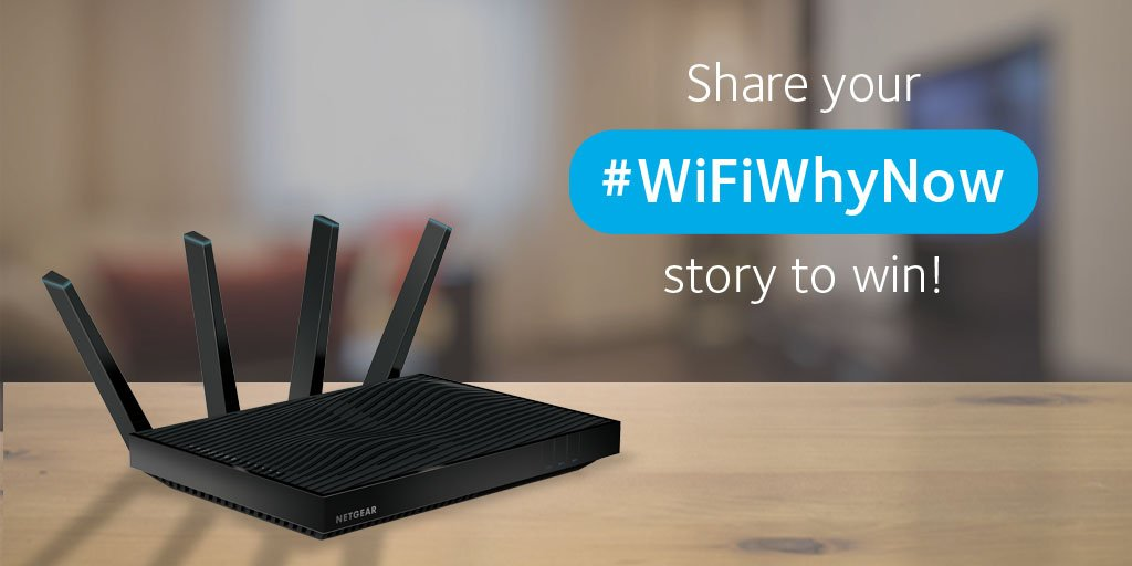 #WiFi let you down at the wrong time? RT & tell us your story using #WiFiWhyNow for a chance to win a Nighthawk X8 https://t.co/PTGSQeO2GH