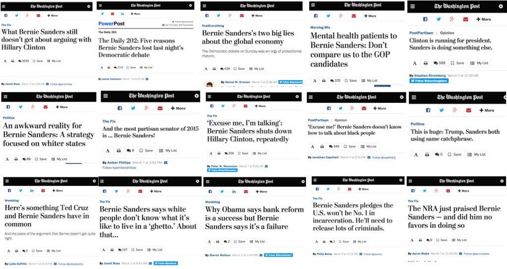 The @WashingtonPost put out 16 negative stories on #BernieSanders over a 16-hour period. https://t.co/kGavHltfHQ https://t.co/t2CXVmDn25
