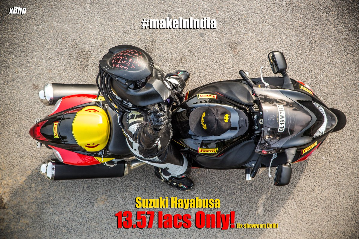 The Suzuki Hayabusa now available for only 1,357,135 (Ex- showroom Delhi). R.I.P Other Superbikes! @suzuki2wheelers https://t.co/RZ4l43Wx96