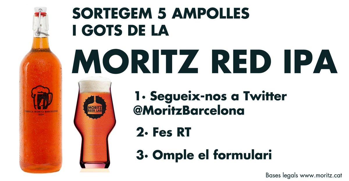 Sortegem 5 Moritz Red IPA amb got! Segueix-nos, fes RT i omple el formulari: https://t.co/sIoP62ulnh #MoritzBeerLab https://t.co/9BDljePKO7