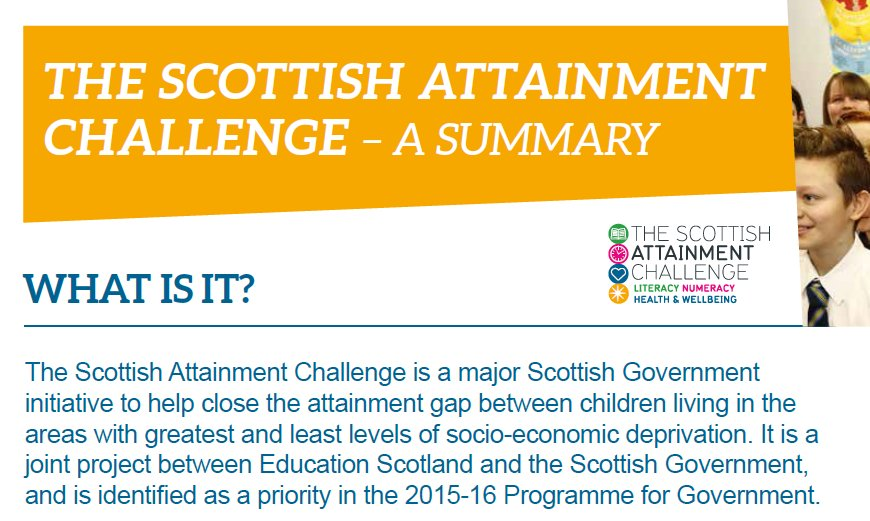 What is the Scottish #Attainment Challenge? Get an overview in our latest magazine. https://t.co/1F9yqWDDZr https://t.co/cdxuG7kiKZ