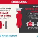 RT @UN_Women: Gender parity should exist at ALL levels of education. https://t.co/hakVvHWBA5 #IWD2016 #Planet5050 https://t.co/HoWjOK7DIc