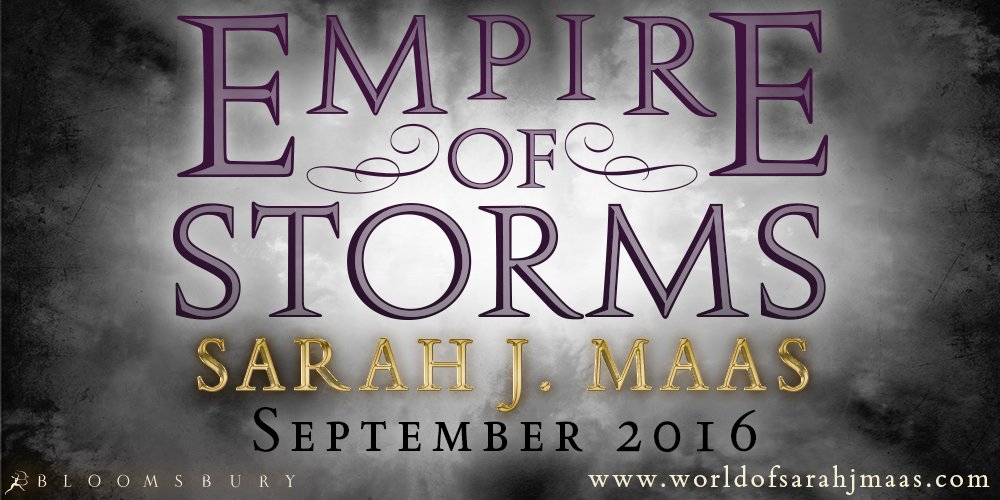 We're so excited to reveal the title for @SJMaas's #ThroneofGlass 5 is...EMPIRE OF STORMS! https://t.co/1HVX78bOOD https://t.co/gaXR2XylQl