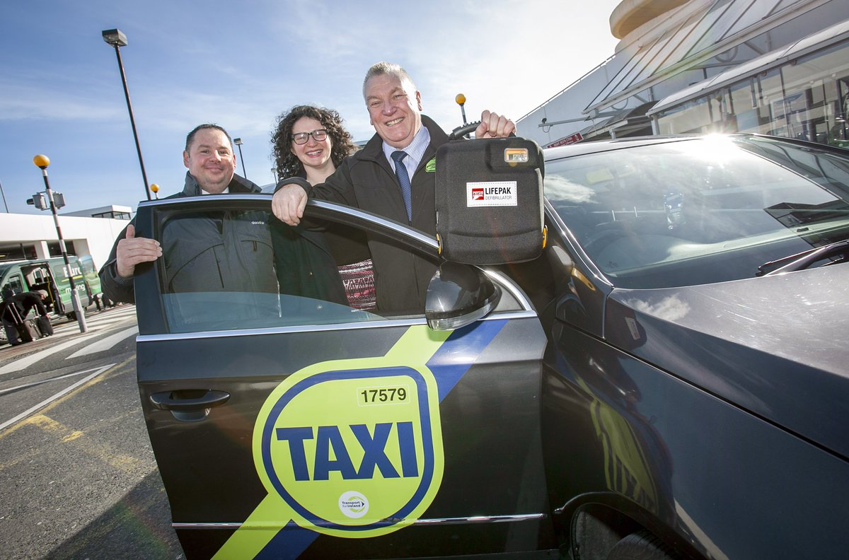 .@DublinAirport partner with @TTnhLtd to train airport taxi drivers to use a defibrillator
