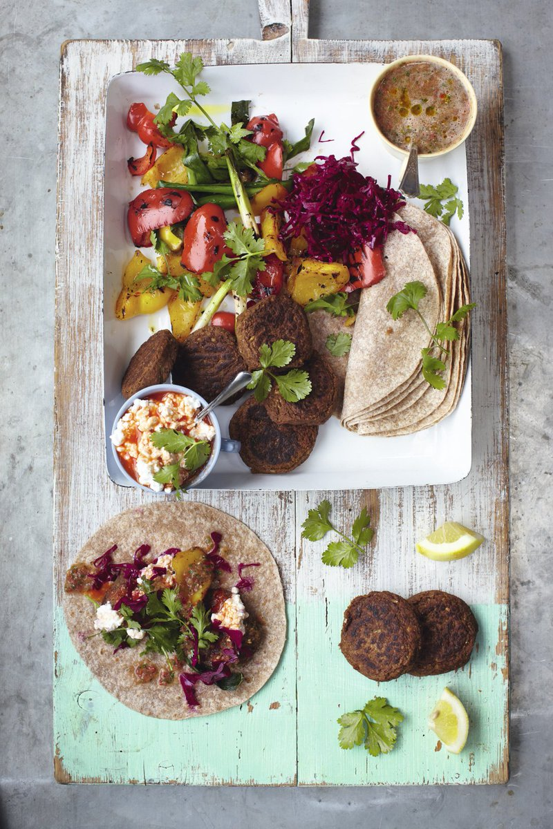 #RecipeOfTheDay is tasty falafel wraps. Just load up the tortillas and tuck in! https://t.co/hWgPfoQZHx https://t.co/xO8o58cMpn