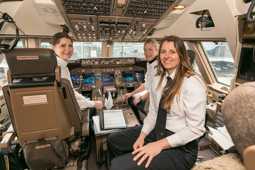 The Lufthansa Group celebrates IWD2016 with 5 female crews headed to JFK today!