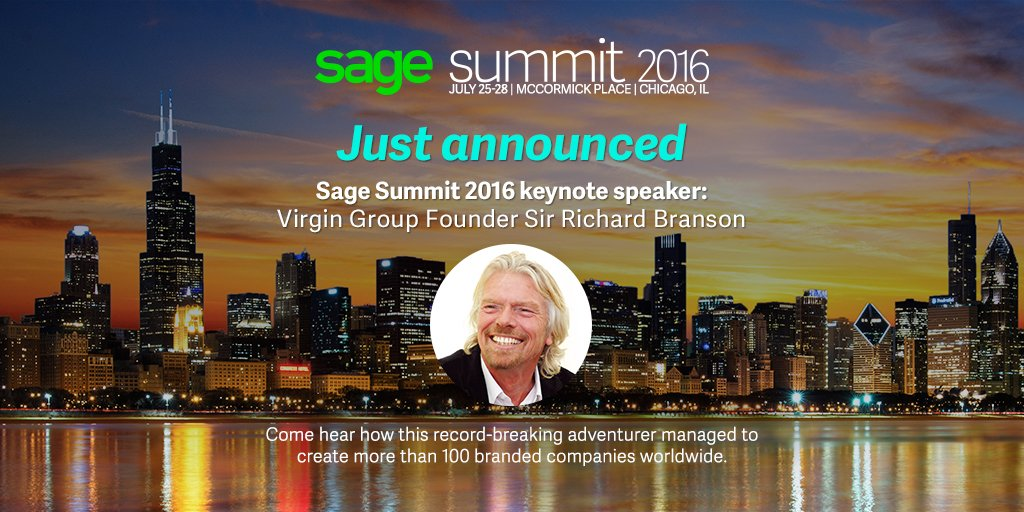 Excited to announce @richardbranson as a #SageSummit '16 keynote speaker! Read more: https://t.co/OmtJ39FsOX https://t.co/nIvbZ2GTdM