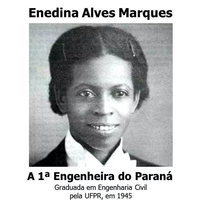 Enedina, orgulho e o inspiração neste 08 de março! Primeira engenheira negra do Brasil