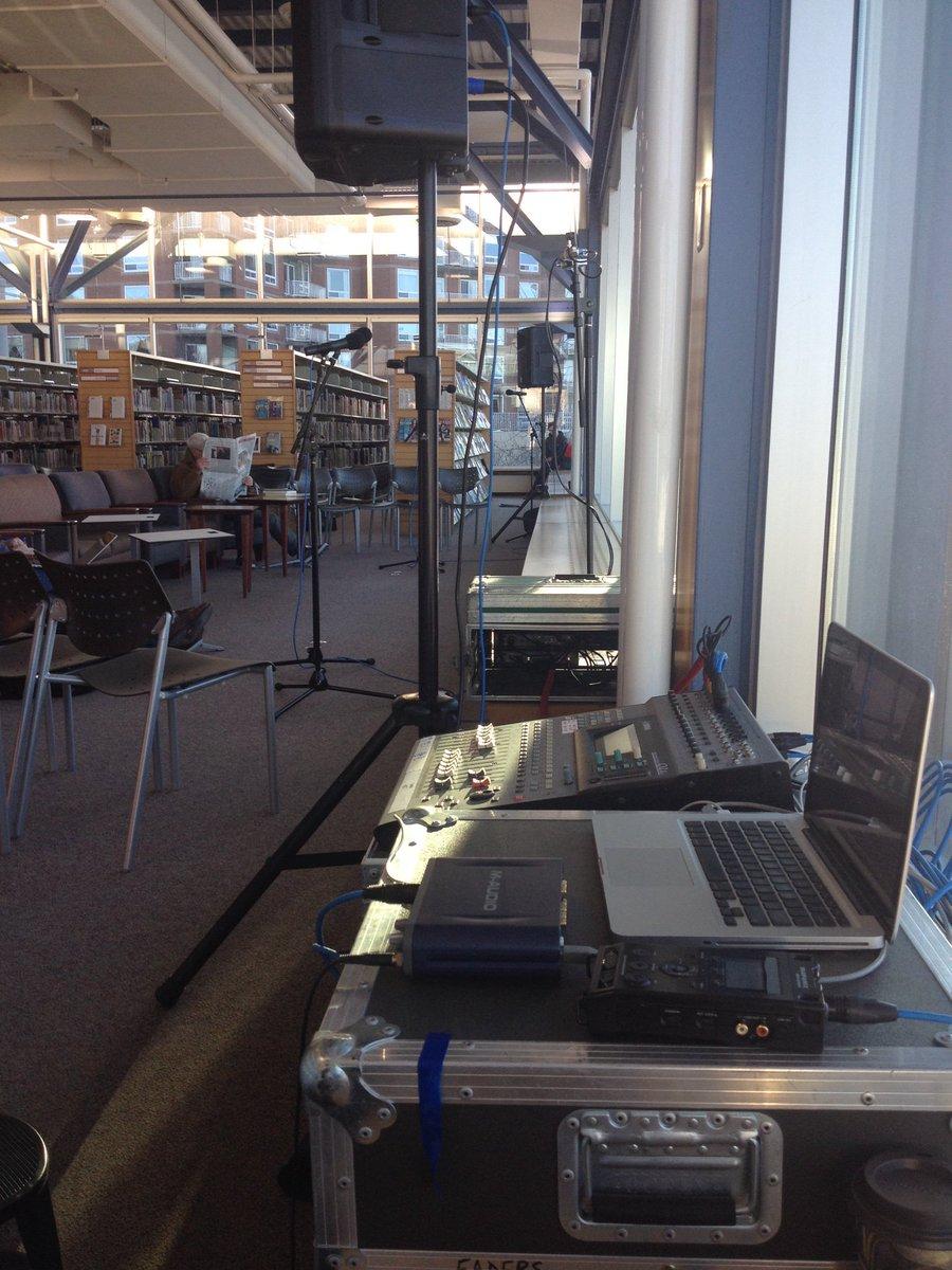 Set up nicely for #beyondhello at the #KeshenGoodman @hfxpublib #cbcns https://t.co/q5Sf2vh72T