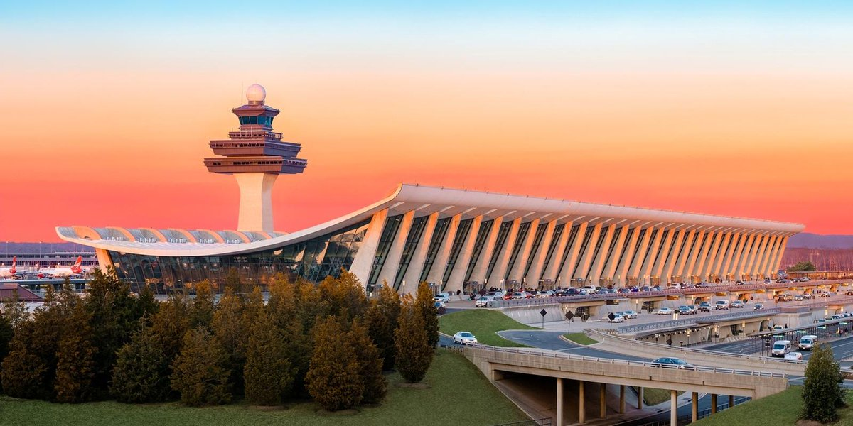 Dulles International, lowest customs wait time out of top 10 airports