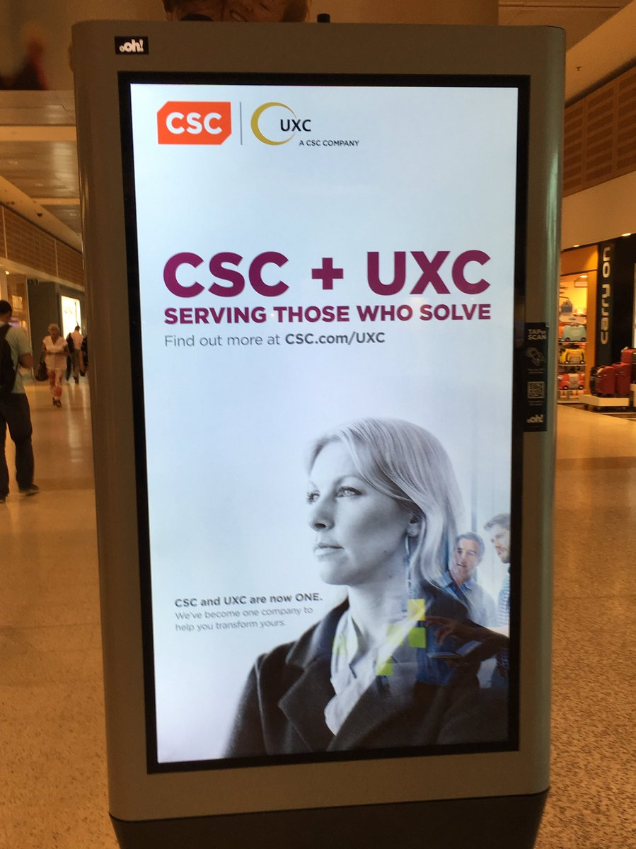 Nice to see @CSCAustralia advertising at Sydney airport! #BetterTogrther https://t.co/hSRxXoeBS0