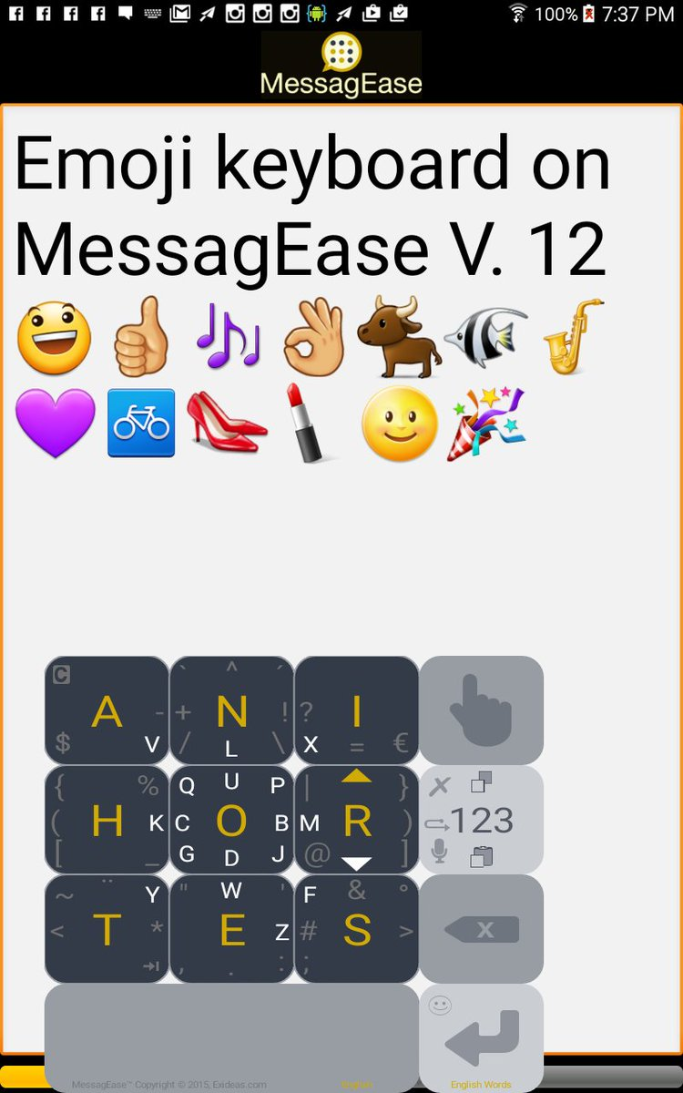 MessagEase V. 12 with extensive Emoji support is just released on Android's Google Play: https://t.co/haKwdPaMhi https://t.co/UbTx8qOJz8