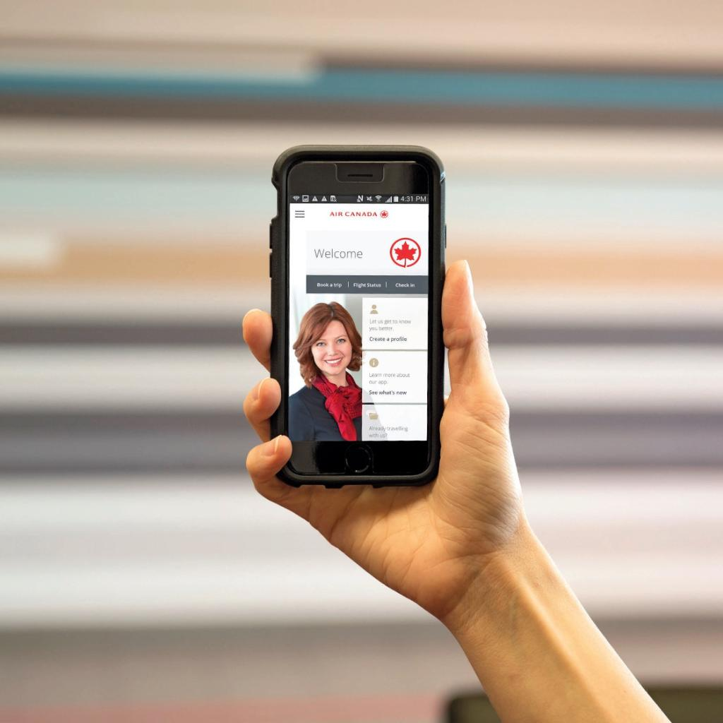 The new Air Canada mobile app features personalized touches that keep you connected