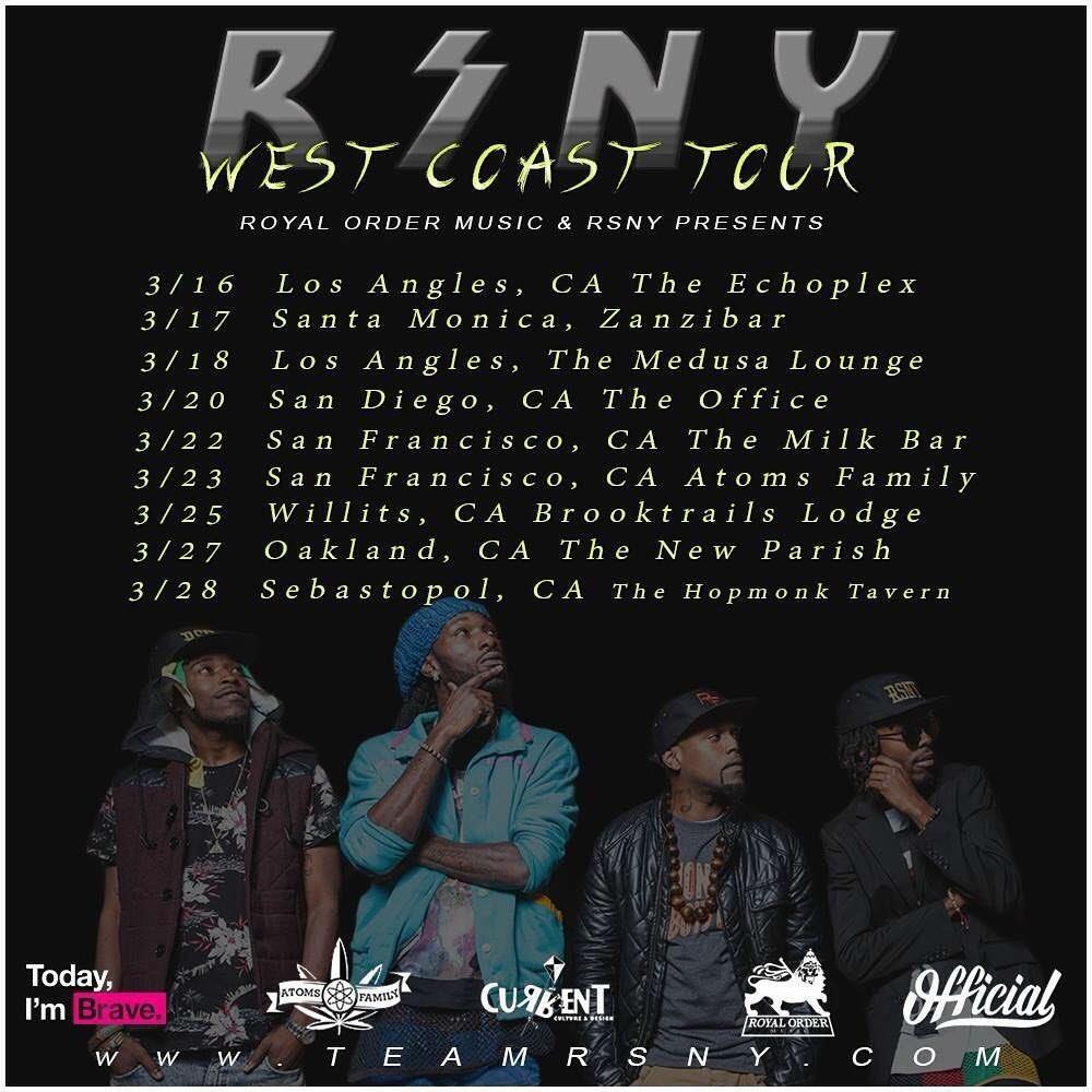 CALI GET READY for THE #StonerGang MARCH16th-29th @RoyalOrderMusic https://t.co/eDtgTbd0vb #Reggae #hiphop #NewYork https://t.co/mrDQSJG2Wj