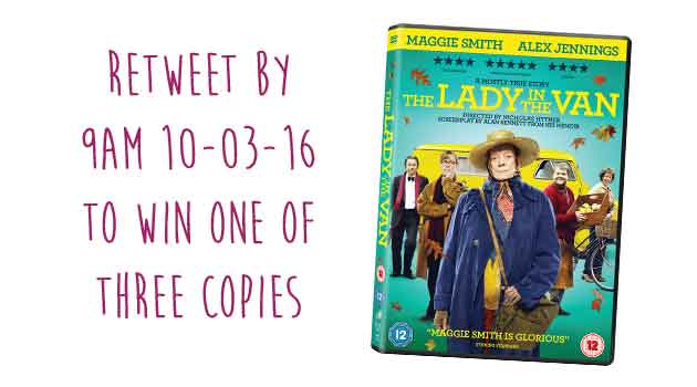 The #LadyInTheVan is out on DVD and Blu-ray! RT by 9am 10/03/15 to #win one of there copies #winitwednesday https://t.co/tK5vAPCGrI