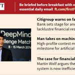 Citigroup warns on revenues, the human-robot rivalry and more. Sign up for #FirstFT here: https://t.co/qctgNAO8Gs https://t.co/UxJs8ZWwZG