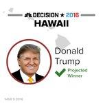 BREAKING: Donald Trump wins Hawaii Republican caucus, NBC News projects. More: https://t.co/jwKB37LZsm #Decision2016 https://t.co/gjINNXTi9x