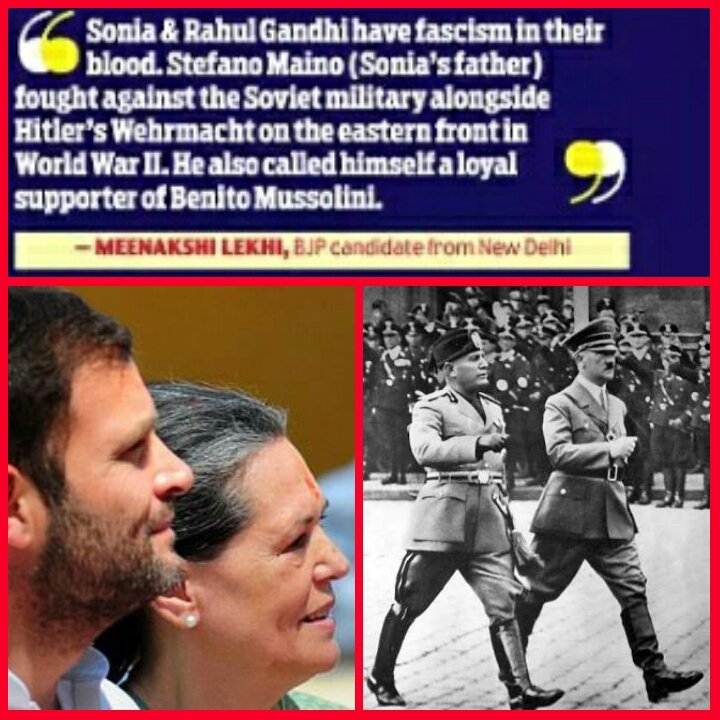 Dear #Kanhaiya, it wasn't Guru Golwalkar but Stefano Maino (father of Sonia Gandhi) was a Fascist Mussolini loyalist https://t.co/DfIso7bxyU