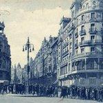 Primer semáforo de España. Cruce de la calle de Alcalá con la Gran Vía #Madrid 1926 https://t.co/q5zWwEMJnx