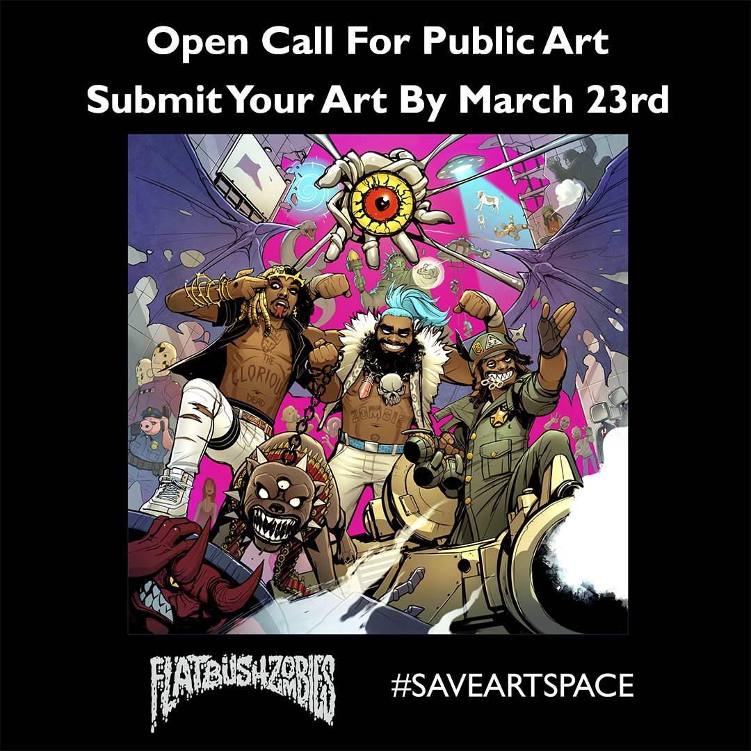 OPEN CALL: @saveartspace & @flatbushzombies bring more art to #Flatbush Let's see your #zombies inspired art! https://t.co/dfyNbfi4t2