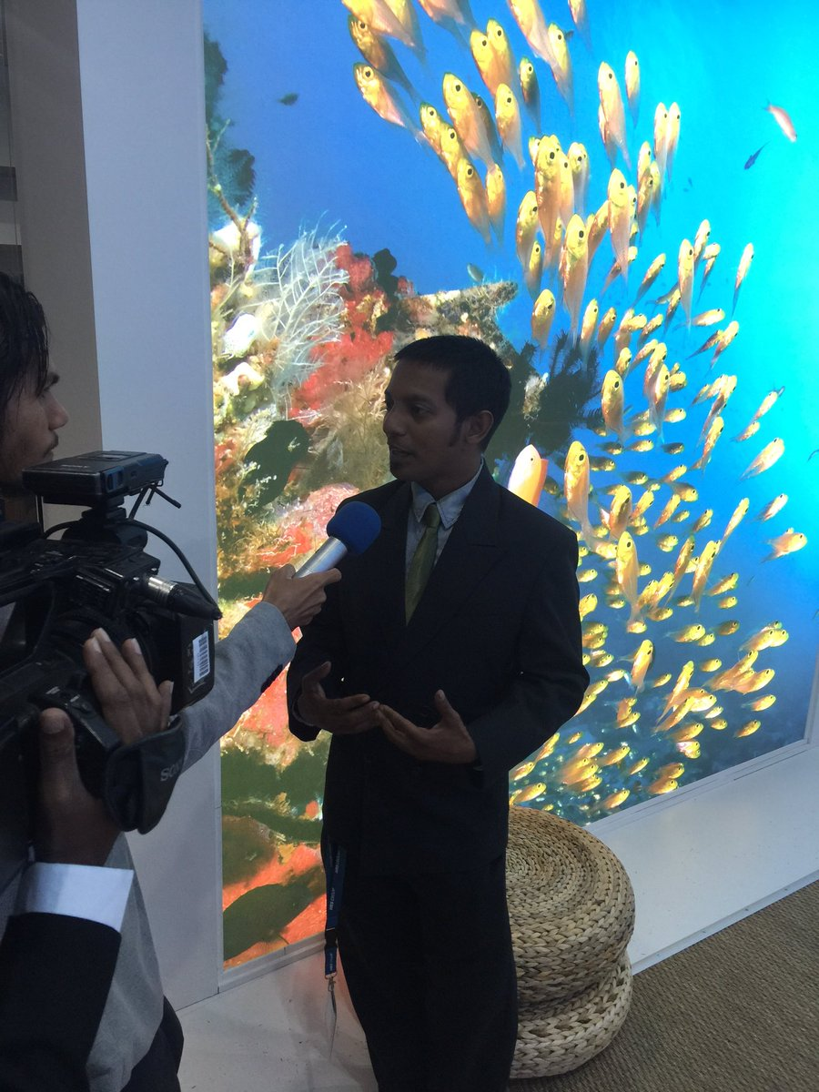 Munko, the architect behind the wonderful cultural performance at the ITB Gala event gives an intv to local media https://t.co/n0frd81kto