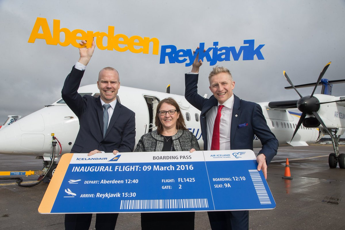 Today we launched Aberdeen to Reykjavik, Iceland with @Icelandair! Now flying 4 times a week
