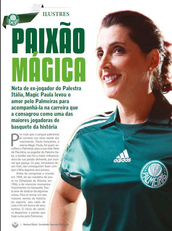 Entrevista da #MagicPaula para a Revista do Palmeiras. E hoje tem Libertadores! (Assessoria) https://t.co/C7vz4Orc3r