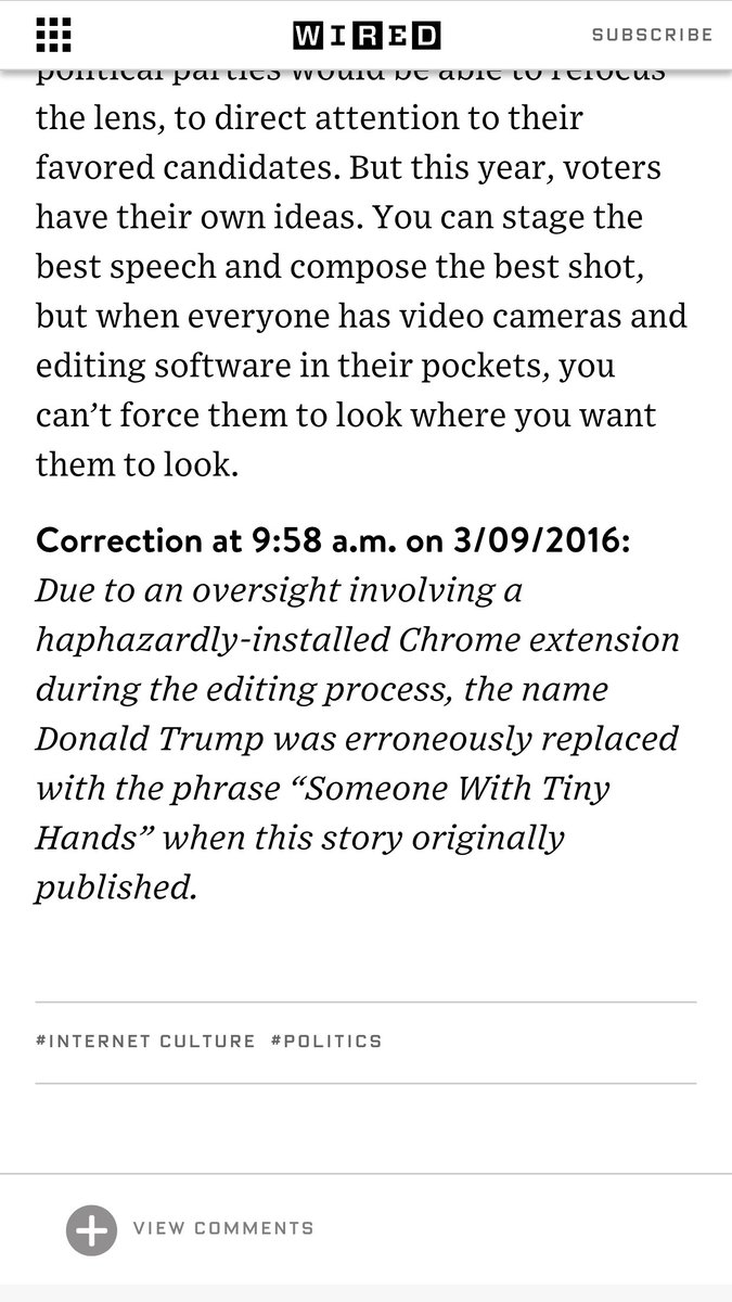 Wired just won the Internet with this correction https://t.co/MUArNZVjgL https://t.co/unsZ9q3Ygr