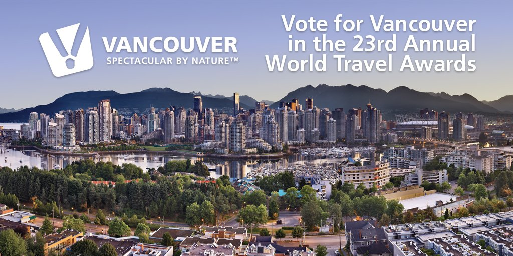 RT @MeetVancouver: Vancouver is nominated in 8 @WTravelAwards categories! We'd be honoured to have your vote https:…