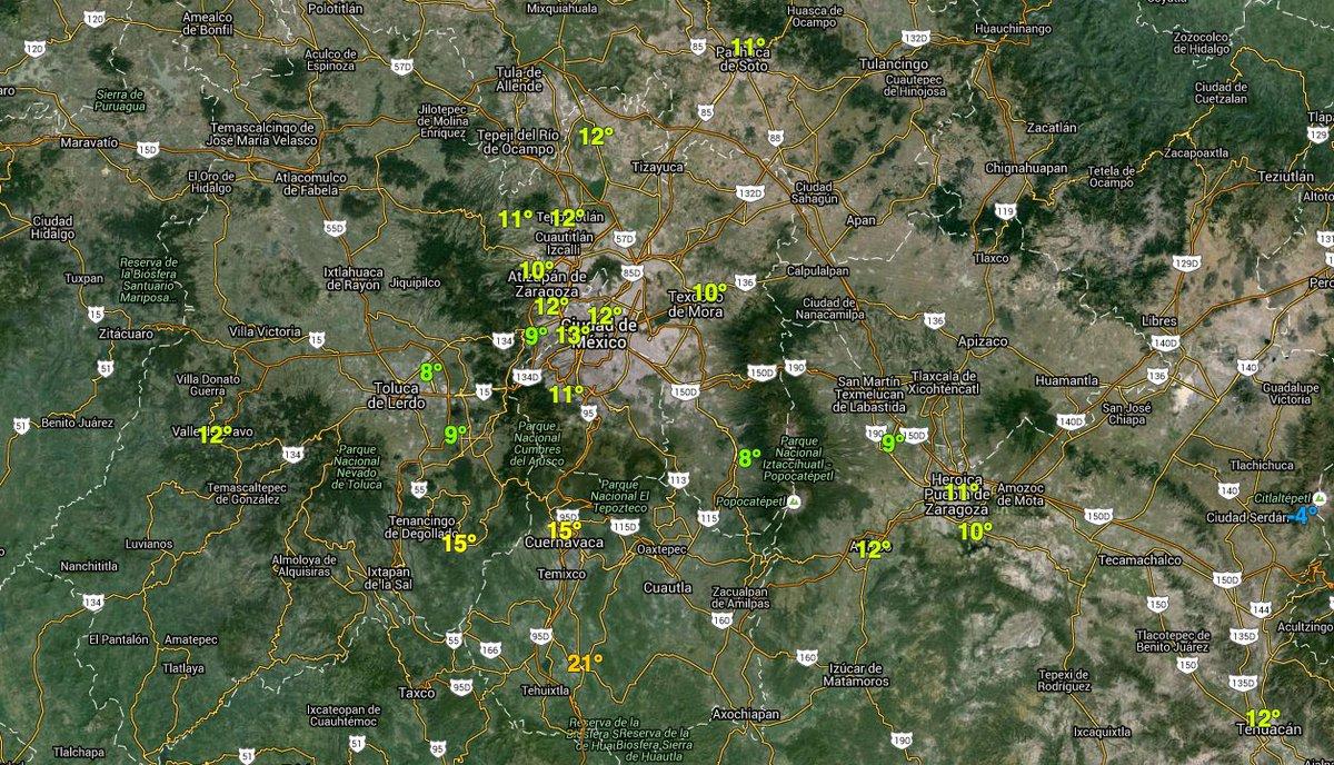 OJO. Esta noche y primeras horas de mañana. Toluca con 90% de potencial de nieve, sur Cd de México 30%, Puebla 12%. https://t.co/qiWb8LX0Ox