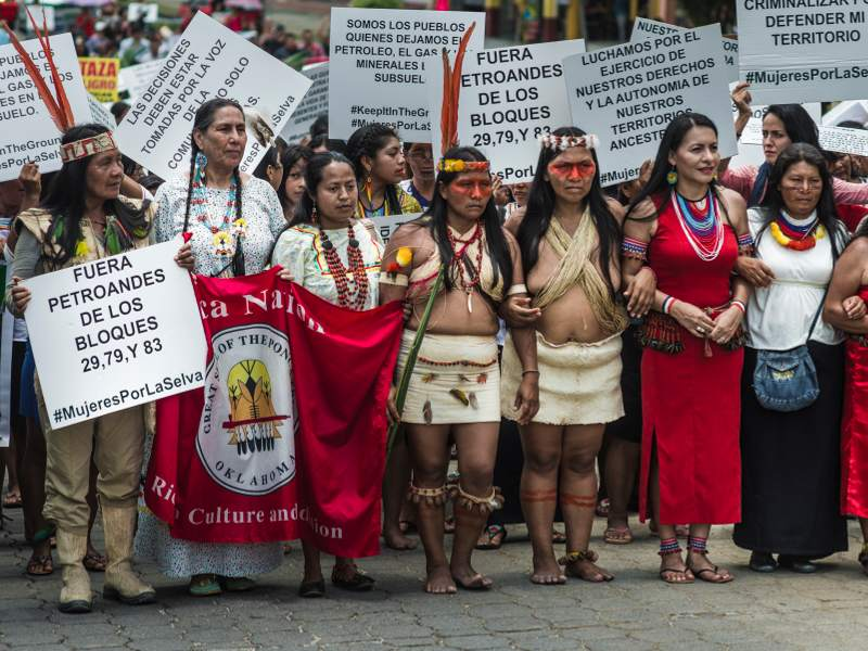 "RT @AmazonWatch: ""We are warriors, & we are not afraid. We will never negotiate"