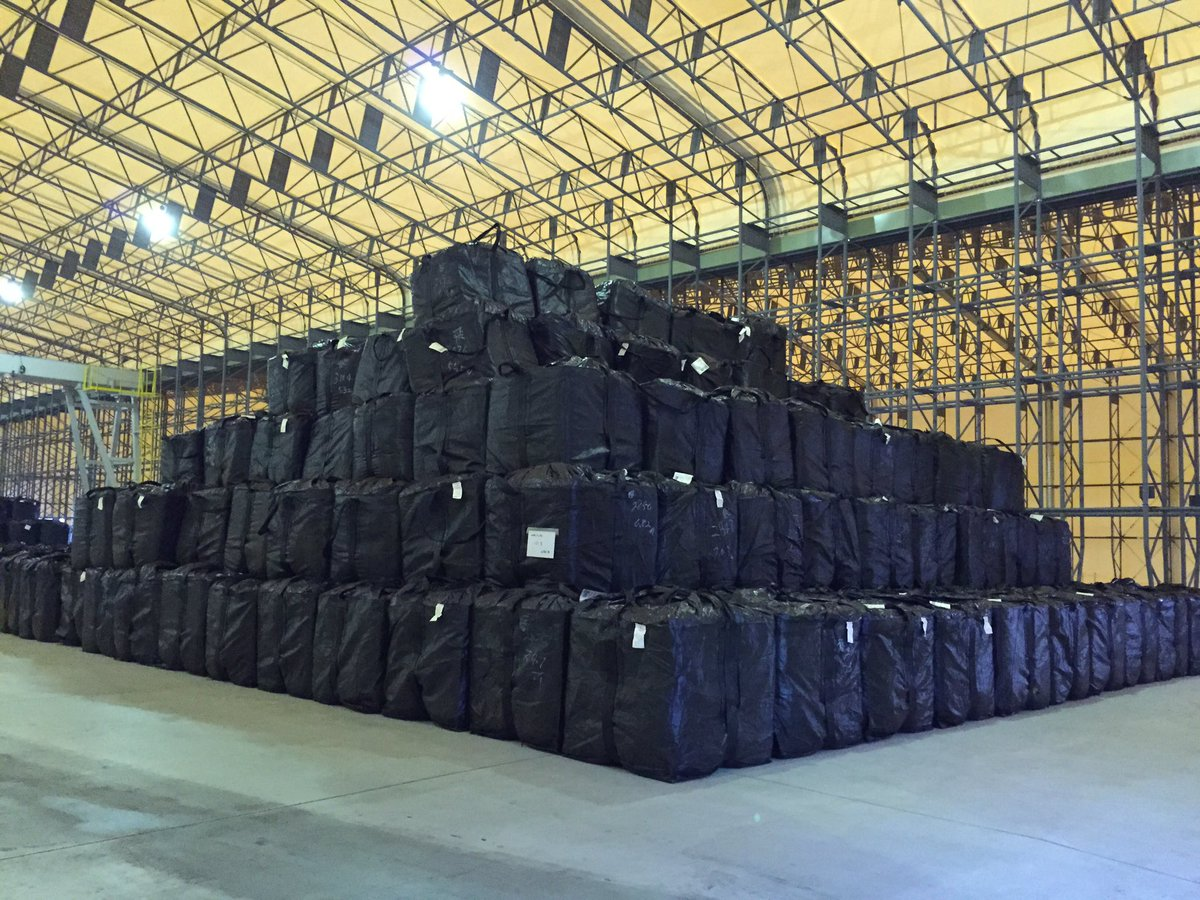 Once they burn the radioactive debris, the ashes are stored here in these bags. #Japan #3/11 https://t.co/aegb3kmQGV