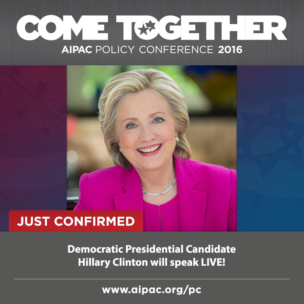 JUST CONFIRMED: Democratic Presidential Candidate @HillaryClinton will speak LIVE at #PC16! https://t.co/Oh7IwyJfbb https://t.co/T2iuq2a1cV