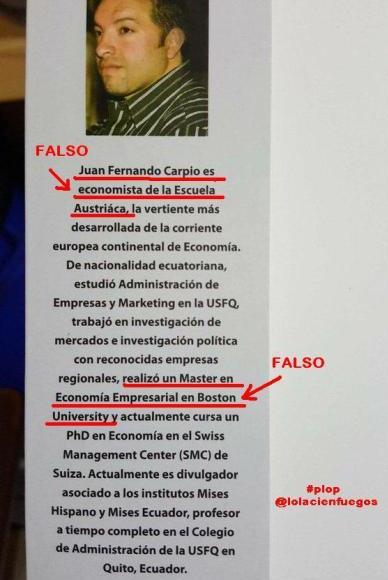 ¿Qué esperas de un farsante como @jfcarpio que ENGAÑA en su propio libro con su CV? Atender @aparicioCC @polificcion https://t.co/8tLBB94Wll