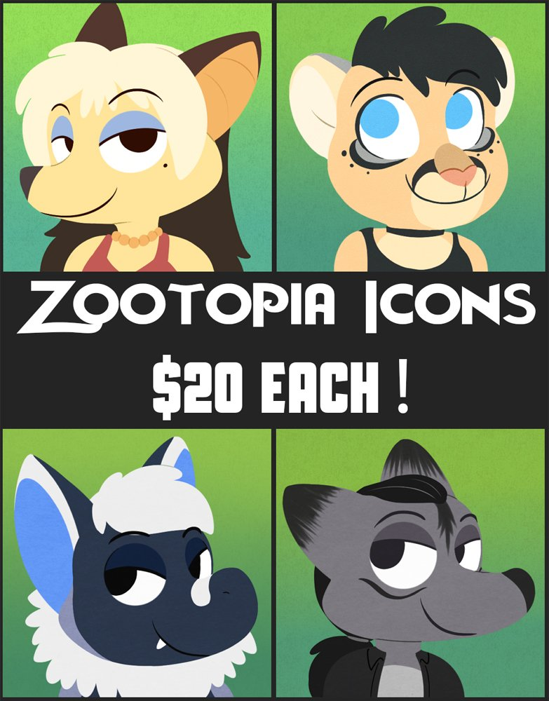 Due to high demand, I've decided to open a form for those wanting Zootopia Icons! It's here: https://t.co/PUlYIw8y9j https://t.co/dDf41Ve7DV