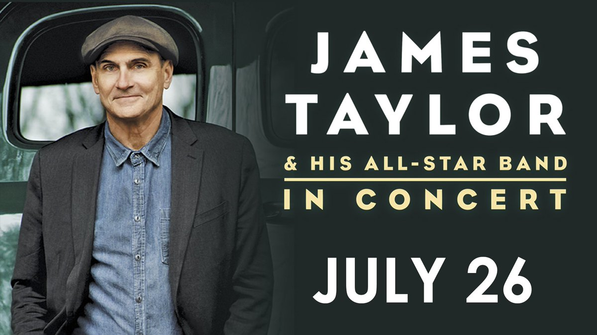 RETWEET for a chance to win 2 tickets to James Taylor happening here July 26! Winner will be chosen at 4 p.m. https://t.co/6c6Nf6wVhf