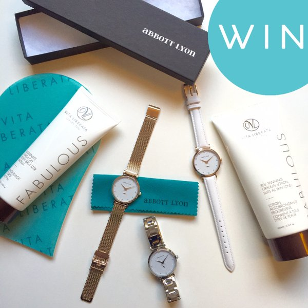 #Win a gorgeous @AbbottLyon watch & #VitaLiberata goodies in our exclusive giveaway! RT & Follow! Ends13/03 https://t.co/X019jBGFFn