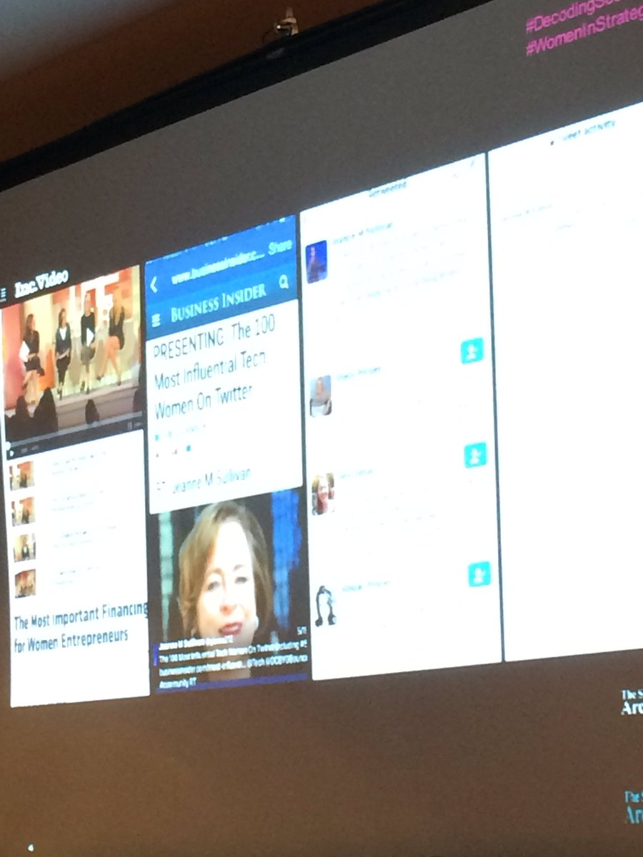 Yay! Great shout out to @gianna212 from @DCtweetBounce at today's #decodingsocial #WomenInStrategy https://t.co/P4KPO7OaRk