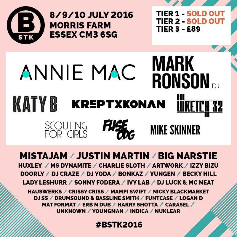 IT IS HERE!!! The FIRST announcement for BSTK 2016. Retweet for your chance to win 2 X VIP tickets!! https://t.co/p1Lvb3s2Fc