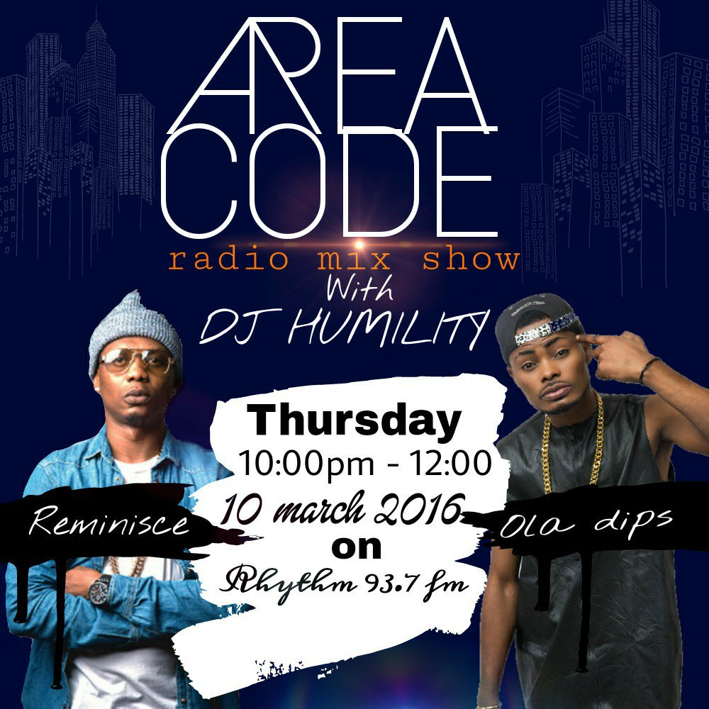 Tonight!!! 10pm  #areacodemixshow .... tha goons coming thru @IamReminisce  & @OlaDipsOfficial