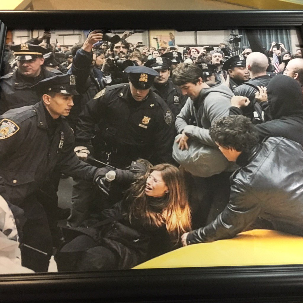 Michelle getting pushed down by police during the Occupy Wall Street protests. Trump campaign serial liars https://t.co/oNptBzNkC9