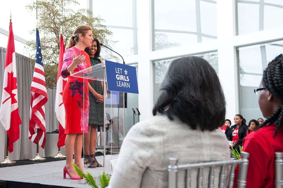 """Be fearless because you already are."" - Sophie Grégoire Trudeau. #LetGirlsLearn https://t.co/5UUZ1bATTx"