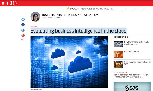 Evaluating #businessintelligence in the #cloud https://t.co/HwNKQ6dMul [New blog] @wiseanalytics @CIOonline https://t.co/GGUuS3LrJ5