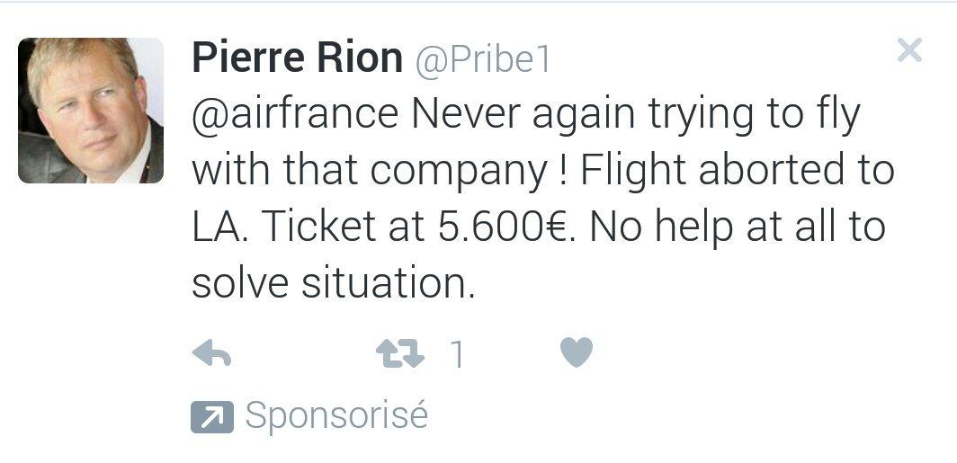 Le client mécontent qui sponsorise son propre tweet je n'avais encore jamais vu #ereputation @AirFranceFR https://t.co/jCxmdpqG37