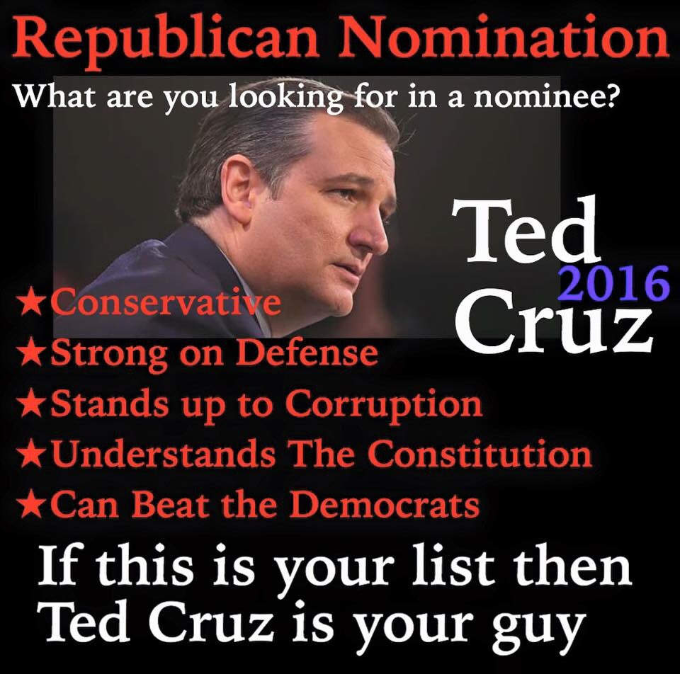 MT @bcwilliams92: If This Is Your List Then Ted Cruz Is your Guy. https://t.co/S1Eo1mb0kZ #CruzCrew #PJNET
