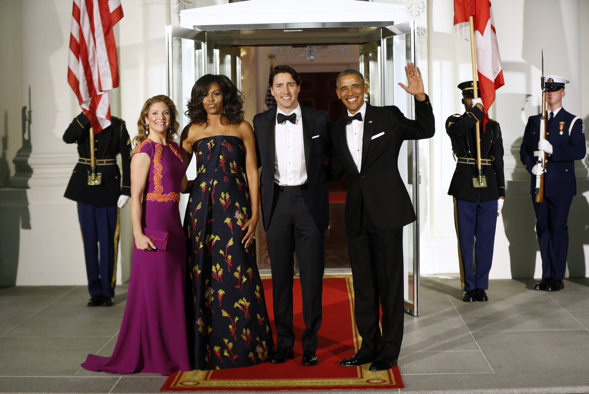 The Trudeaus have arrived at the state dinner. Here's a roundup of the Washington trip https://t.co/QauCmNKSpO https://t.co/DHHFJegIE4